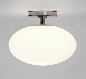 Astro Zeppo Ceiling Light - Opal Glass Astro, Flush Ceiling Light, IP20, Opal Glass, Polished Chrome, Zeppo