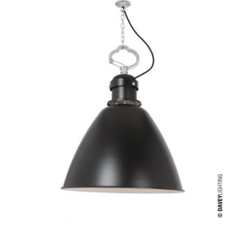 Medium 7380 pendant, black