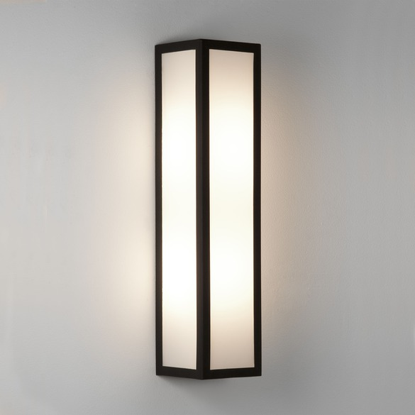 Salerno matt black wall light