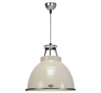 Titan size 1 pendant light with etched glass diffuser