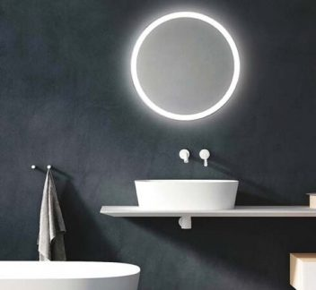 LED 30W Circular Mirror Bathroom Mirror, LED, Mirror