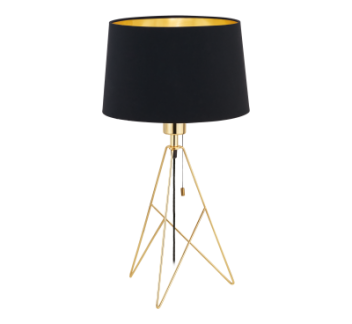 Eglo CAMPORALE Brass/Black Table Light Black, CAMPORALE, EGLO, Table Lamp