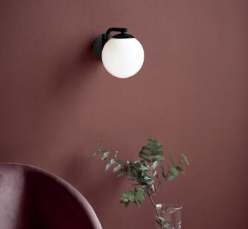 Nordlux Grant Wall Light - Black Black, Grant, nordlux, Opal White, wall light