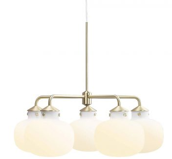 Nordlux RAITO 5 Light Chandelier 5 Light Chandelier, nordlux, Opal, RAITO, White