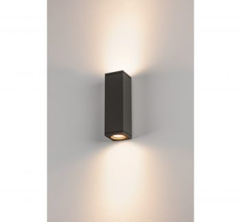SLV THEO Outdoor Up/Down Wall Light Anthracite, IP44, QPAR51, SLV THEO outdoor wall light, Square, up down
